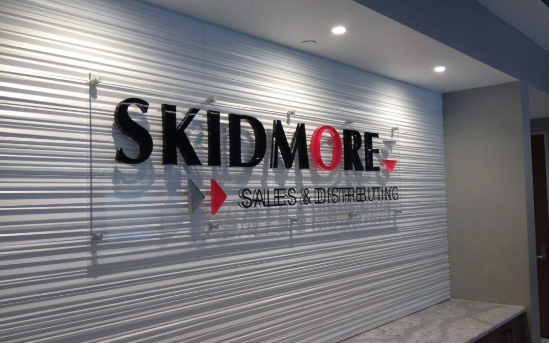 Lobby Sign for Skidmore – Cincinnati, OH