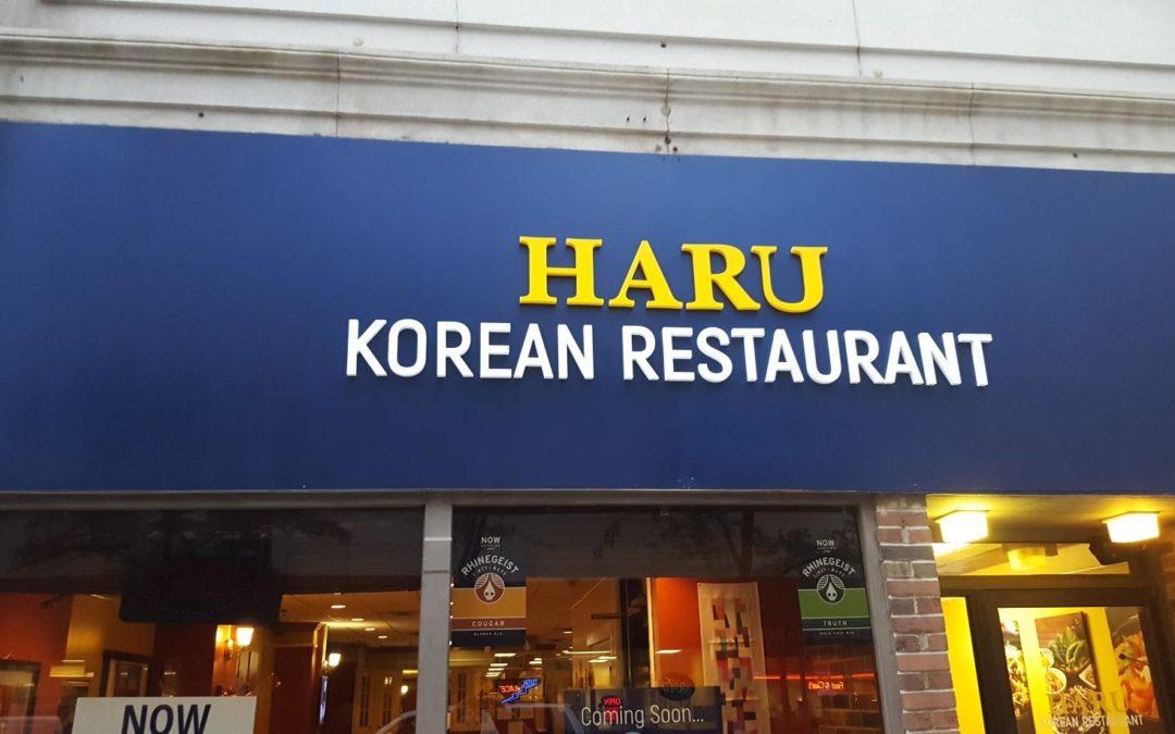 Restaurant Business Sign for Haru