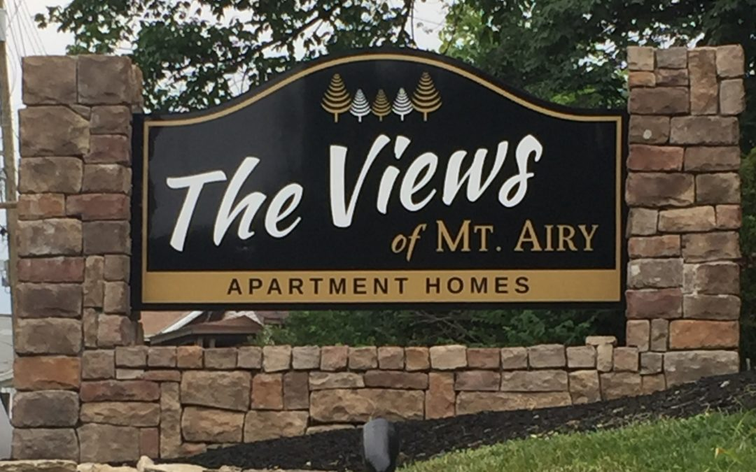 Monument Sign for apartment complex with a high quality design in Cincinnati, OH